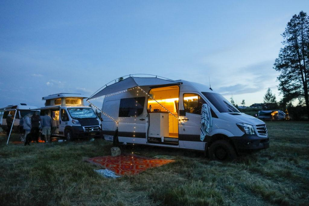 The Moonshade portable awning for your camper van is a budget-friendly solution to providing shade while you're camping.
