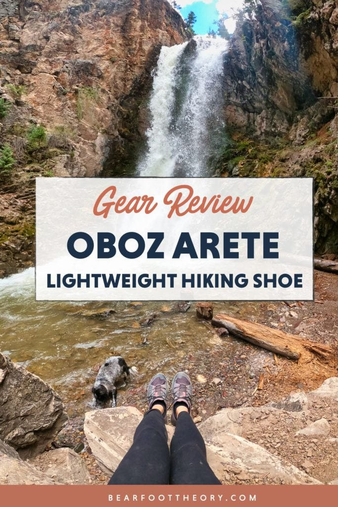Get our in depth review of the Oboz Arete lightweight hiking shoe, with details on comfort, traction, waterproofing, fit, durability, and more.