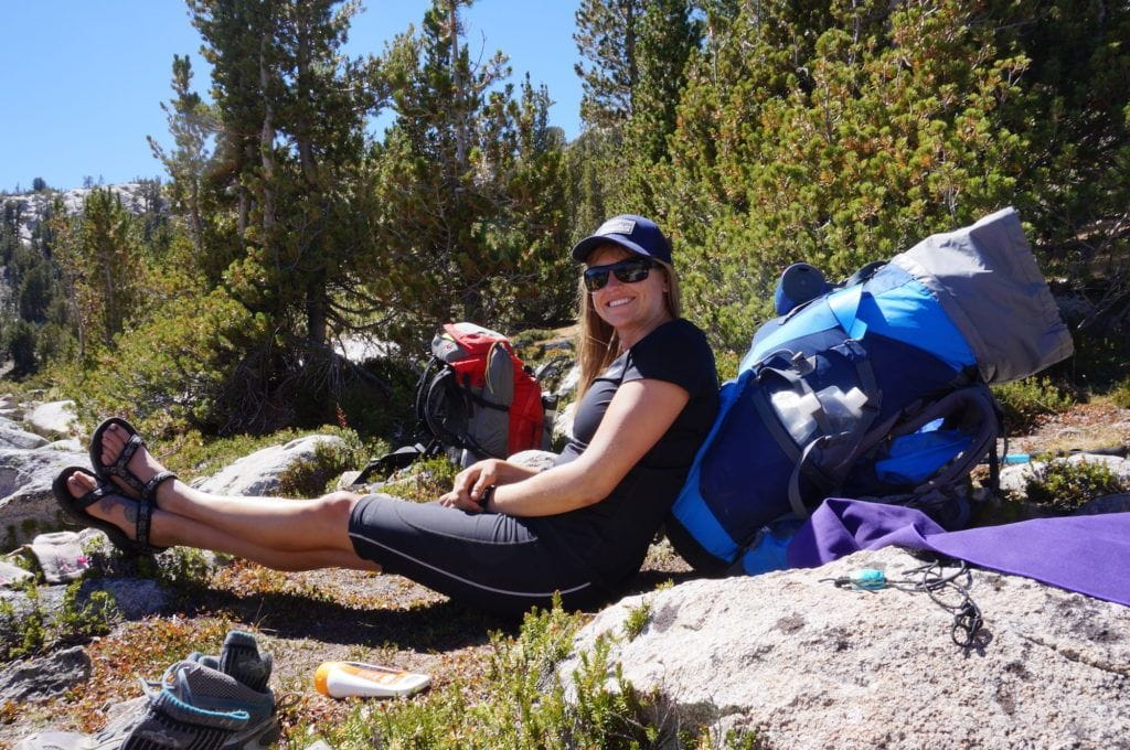Teva Hurricane XLT sandals on the John Muir Trail
