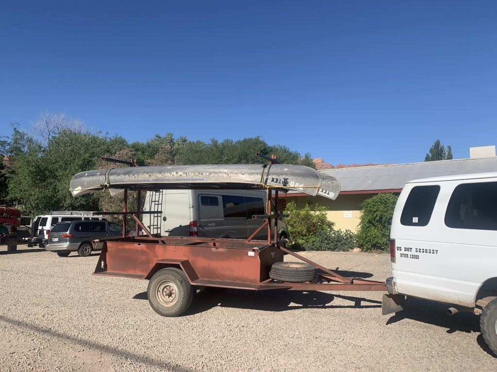 Canoe rentals from Tex's Riverways in Moab