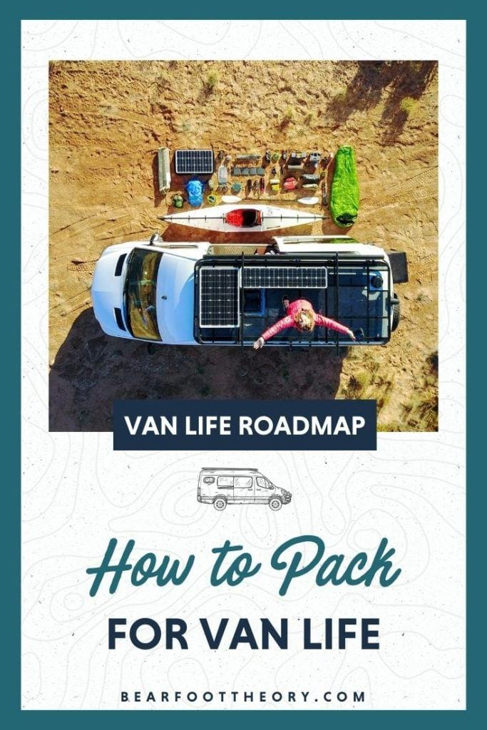 Learn all about packing for van life including suggestions and tips on what clothing to bring, shoes, gear, organization, and more.
