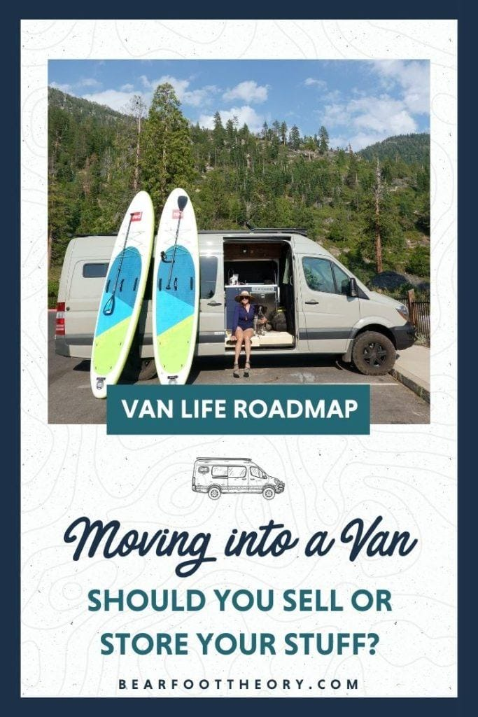 Transitioning to van life can be overwhelming - what do you do with all of your stuff? Learn where to store extra belongings and how to decide what to keep.