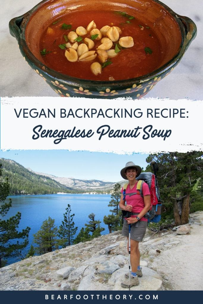 This vegan backpacking recipe for Sengalese Peanut Soup is nutritious, high in protein, and easy to prepare. Just add hot water at camp and enjoy!