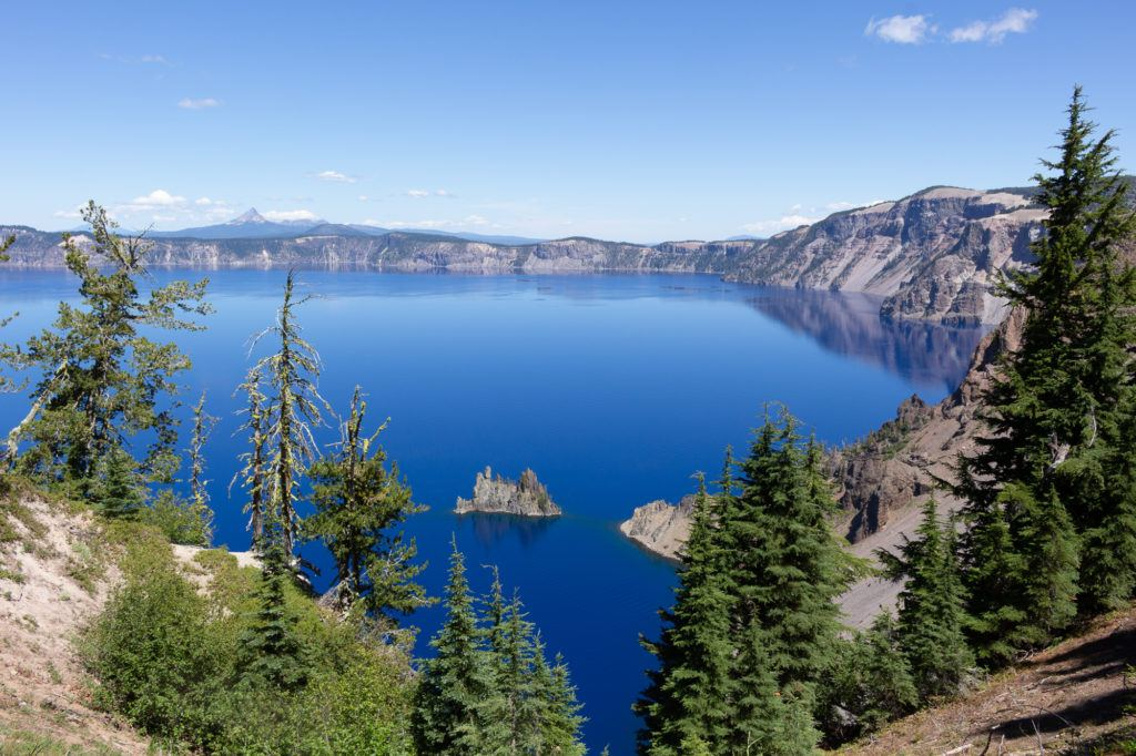 Crater Lake is an essential stop on an Oregon road trip with incredible view points.