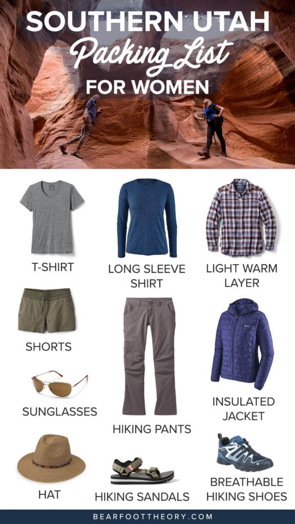 Get your gear and clothing dialed with this Southern Utah packing list so you're ready for any adventure from hiking to camping and more.