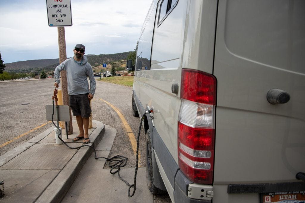 Learn how to find essential van life amenities such as fresh water, dump stations, and showers with these helpful van life tips and resources