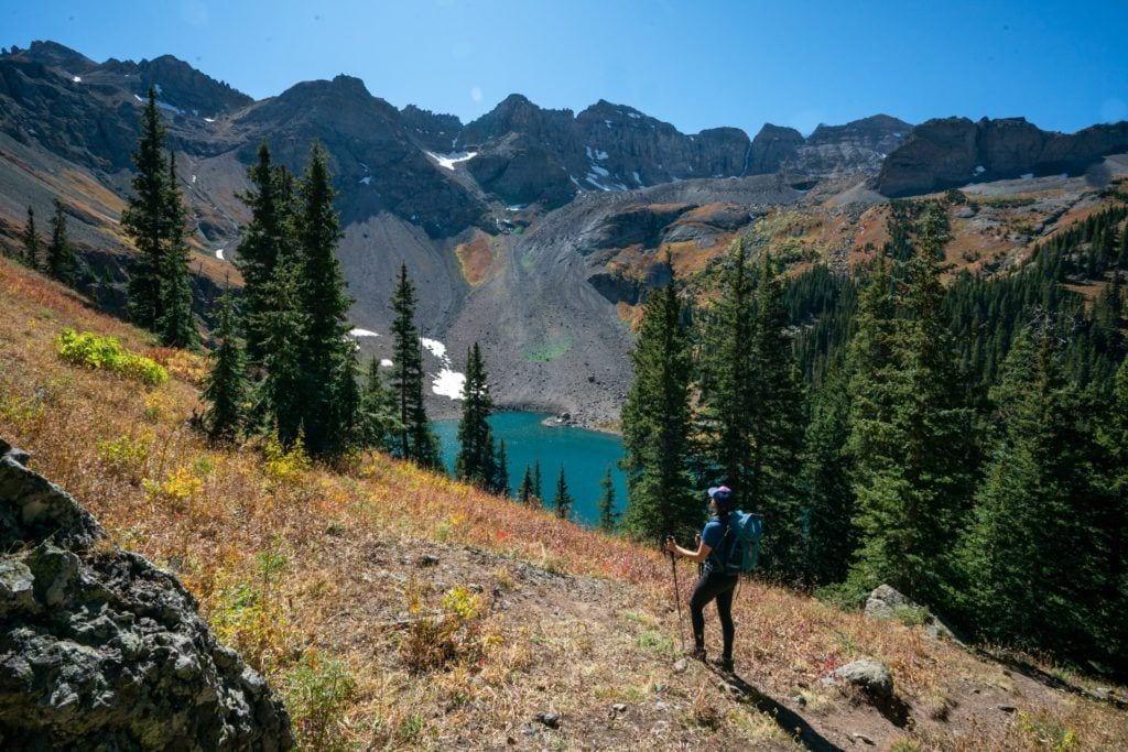Blue Lakes Trail in Telluride, Colorado