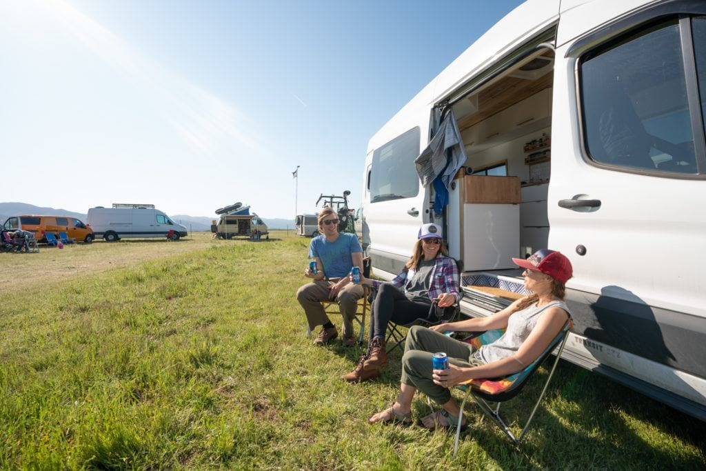 Learn how to find a van life community while traveling on the road and get tips for finding like-minded travelers and fun van life events.