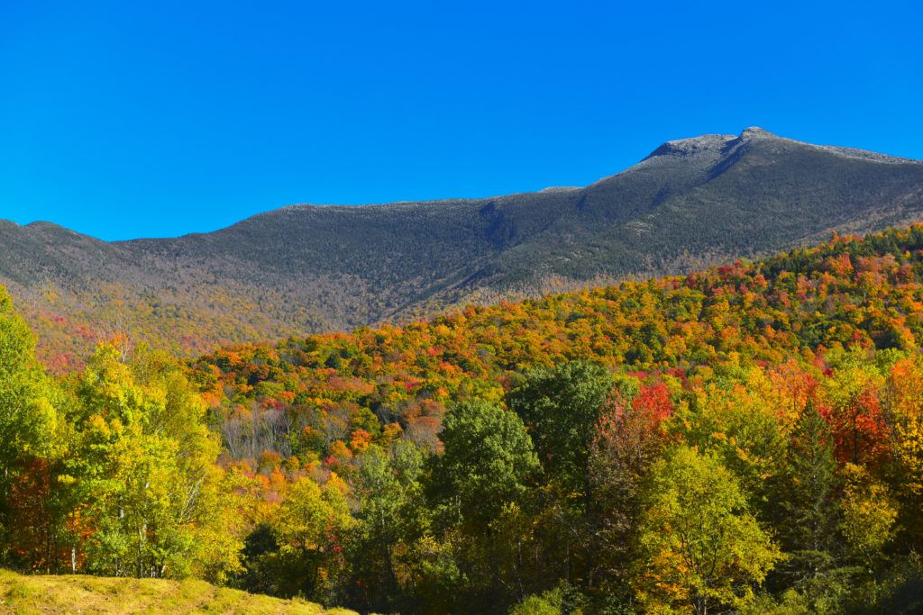 Mount Mansfield // Plan your Vermont Fall Foliage road trip with our guide on where see the best fall colors including scenic leaf-peeping drives and more.