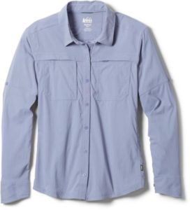 REI Co-op Sahara Button-Up Shirt // One of the best women's tops for sun protection while hiking