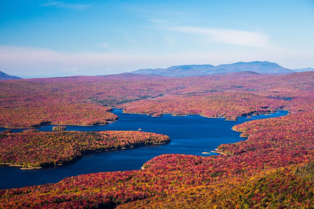 Somerset Reservoir // Plan your Vermont Fall Foliage road trip with our guide on where see the best fall colors including scenic leaf-peeping drives and more.