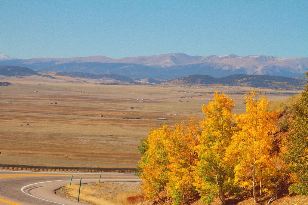 South Park from Kenosha Pass // Experience the fall leaves in Colorado with this road trip itinerary that takes you through some of the best aspen groves in the state.