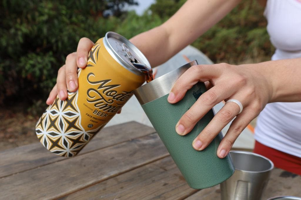 Adventure Stacking Beer Pint // Check out the best camp cookware and drinkware gifts for camping and van life by Stanley for gifts that will last a lifetime.