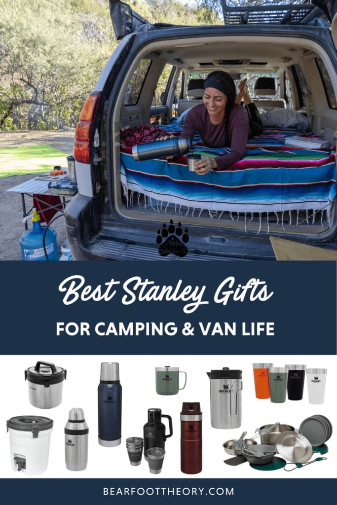 Check out the best camp cookware and drinkware gifts for camping and van life by Stanley for gifts that will last a lifetime.