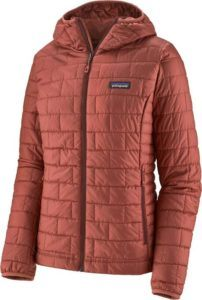 Patagonia Nanopuff Hoodie / Here are the best synthetic down jackets for women in 2021 including lightweight, packable, vegan-friendly down alternatives for cold temps.