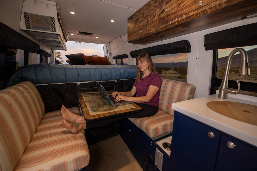 Learn 13 tips for being productive and getting work done when you live in a van, so you have free time to enjoy the adventure.
