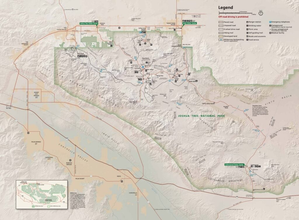 Joshua Tree National Park Map // Headed to Joshua Tree National Park for the first time? Here's details on the 3 best Joshua Tree hikes, plus info on where to stay during your trip