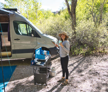 Looking to upgrade your camp cooking gear for car camping or van life? Here is our checklist for the best outdoor camp kitchen essentials.