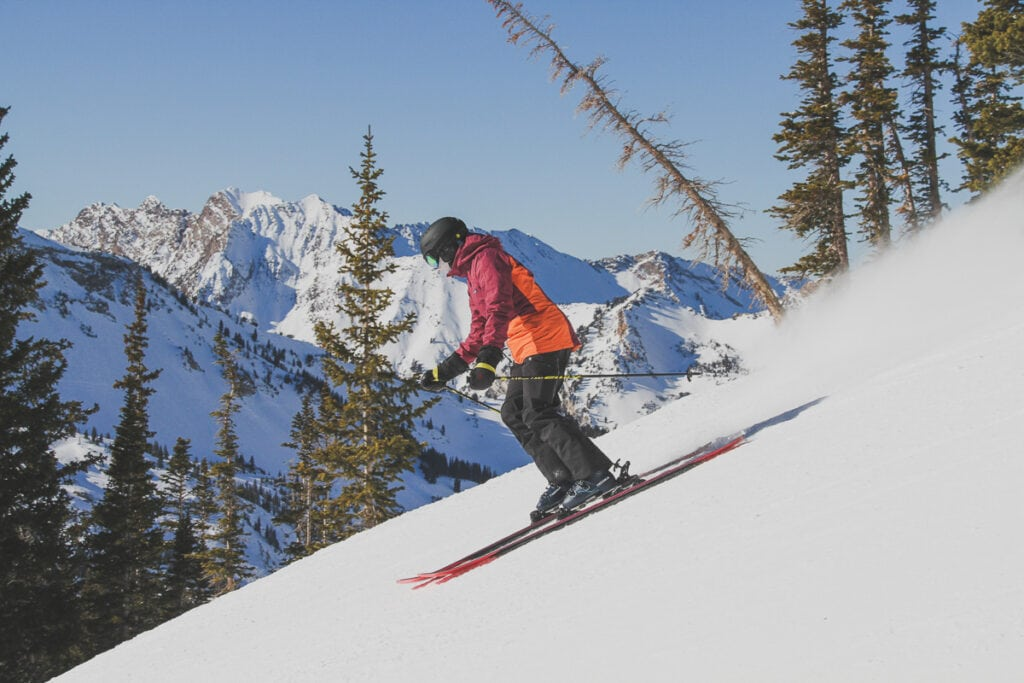 Skiing at Alta // Cardio - like skiing and running - are great ways to train for a thru-hike