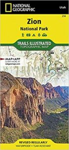 Zion National Park Map // Plan your trip to Zion National Park with this travel guide complete with info on campgrounds, must-do trails, permits, park shuttle & more.
