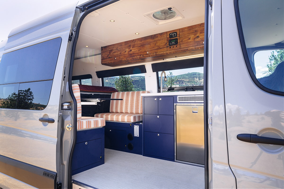 Need some camper van kitchen ideas for your conversion? Check out these van galleys for ideas on layout, appliances, storage, and more.