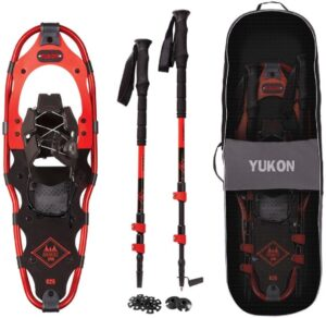 Yukon Charlie's Snowshoe Kit // Learn how to snowshoe with our snowshoeing 101 guide. Read tips on how to find trails, buy snowshoeing gear, and other important safety tips.
