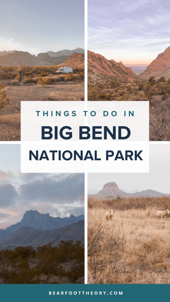 This travel guide includes the top things to do in Big Bend National Park including hiking, hot springs, river trips, and camping.