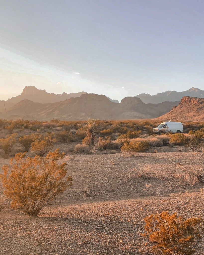 Big Bend National Park camping - dispersed campsite. This guide includes all Big Bend National Park lodging and camping information