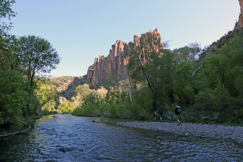 Middle Fork Trail in the Gila Wilderness // This guide to the best natural New Mexico hot springs includes info on hiking distances, parking, what to know before you go, and a map.