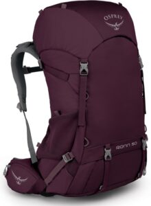Osprey Renn 50 Backpack / Here is a roundup of the best cheap backpacking gear plus tips for buying quality, budget gear for your next backcountry camping trip.