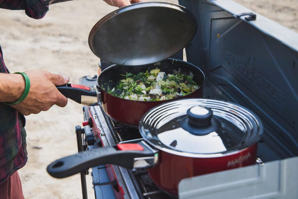 Magma Cookware // Looking to upgrade your camp cooking gear for car camping or van life? Here is our checklist for the best outdoor camp kitchen essentials.