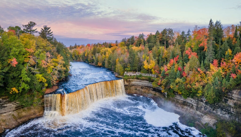 Tahquamenon Falls State Park // Upper Falls is the best for Michigan outdoor adventure