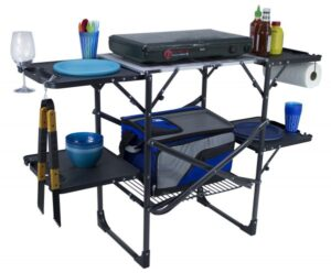 GCI Slim-Fold Cook Station // Looking to upgrade your camp cooking gear for car camping or van life? Here is our checklist for the best outdoor camp kitchen essentials.