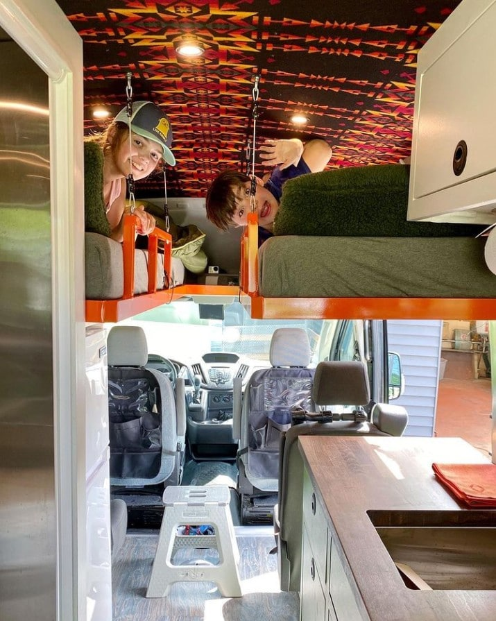 Want to do van life with kids? Check out the best camper van layouts for families and 5 things to consider when designing your floor plan.