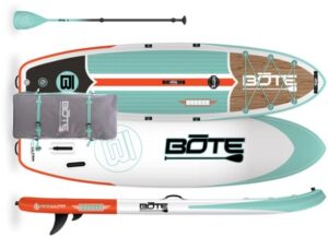 Bote Breeze Aero Inflatable Stand Up Paddle Board with Paddle // inflatable SUPs are great for beginners