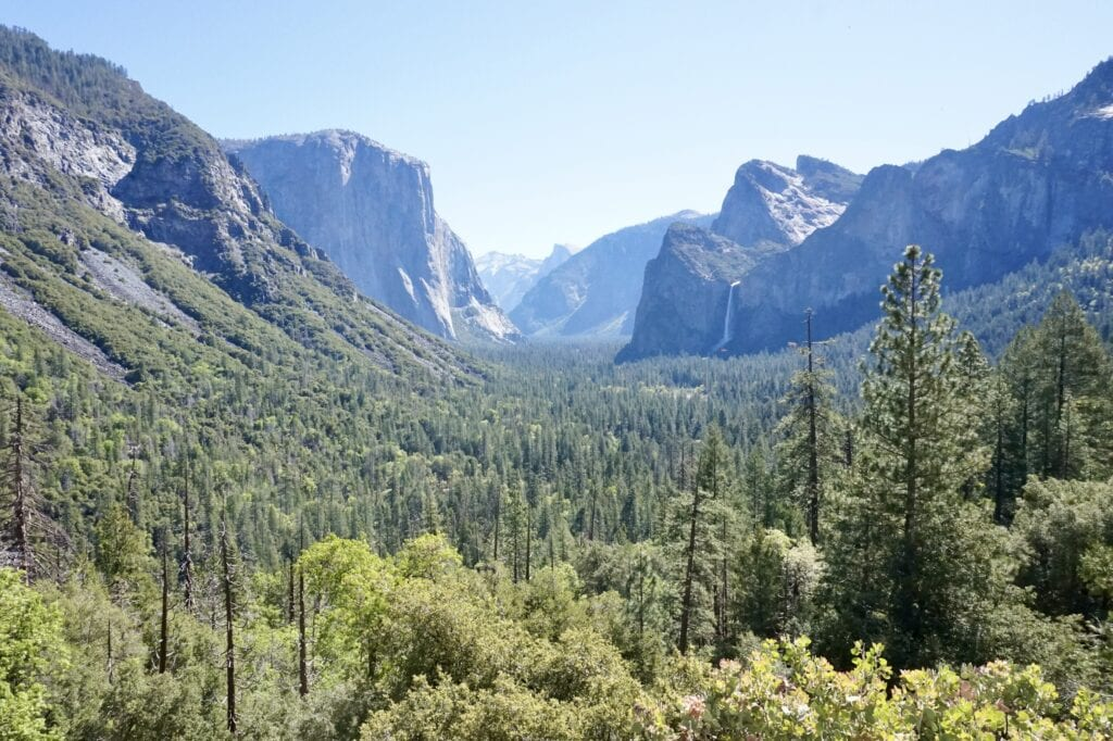 Tunnel View overlook // Looking for the best things to do in Yosemite National Park? Our guide covers Yosemite camping, hiking, & everything else you need to know.