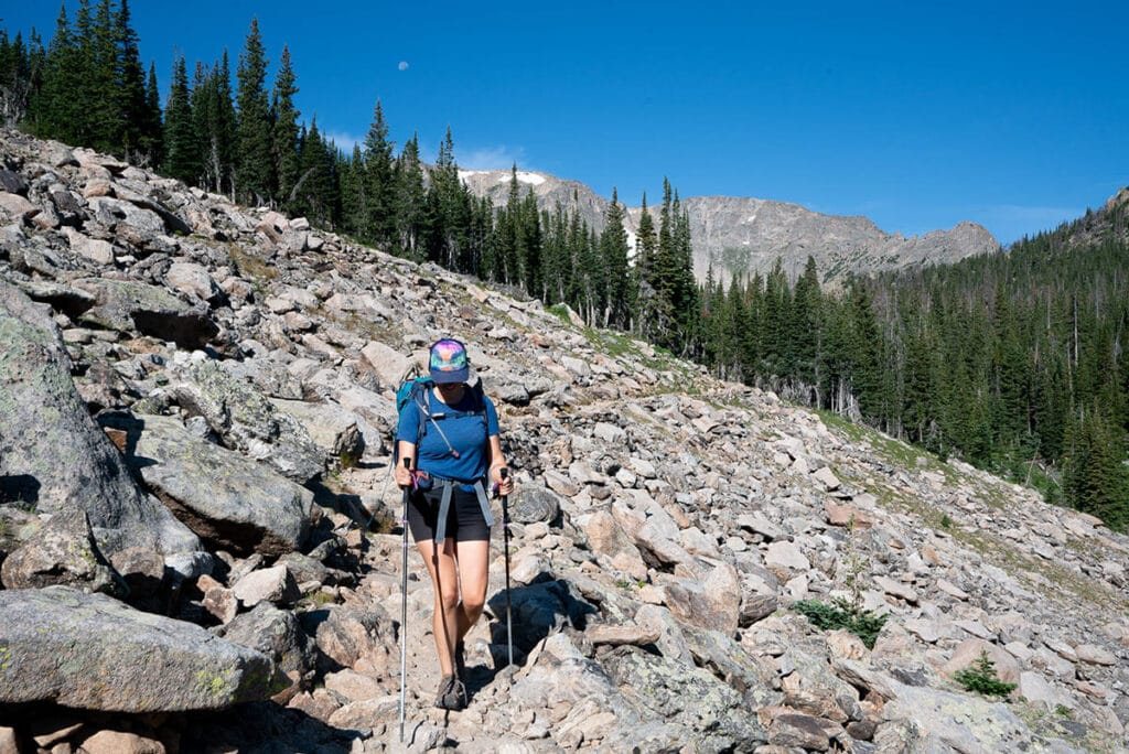 Prevent hiking knee pain with these tips for safely hiking uphill and downhill, the best gear to keep knees safe, and post-hike recovery.