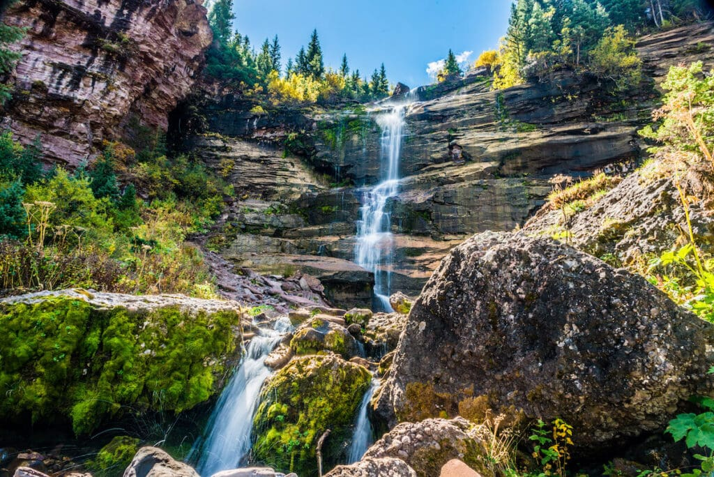 Bear Creek Falls in Telluride, Colorado / Learn about 7 of the best Telluride hikes including distance, elevation gain, and directions to the trailheads.