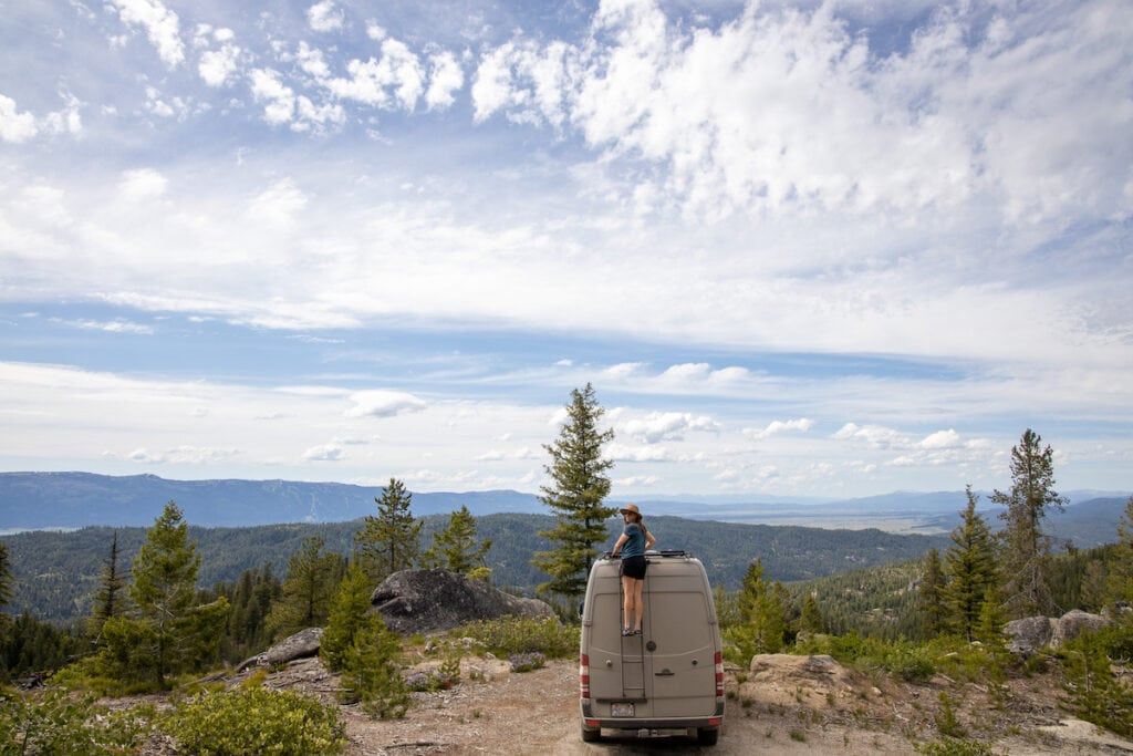 Dispersed camping in Cascade, Idaho / Explore the best outdoor adventure in Cascade, Idaho with this 4-day itinerary featuring hot springs, hiking, off-roading, biking, and more.