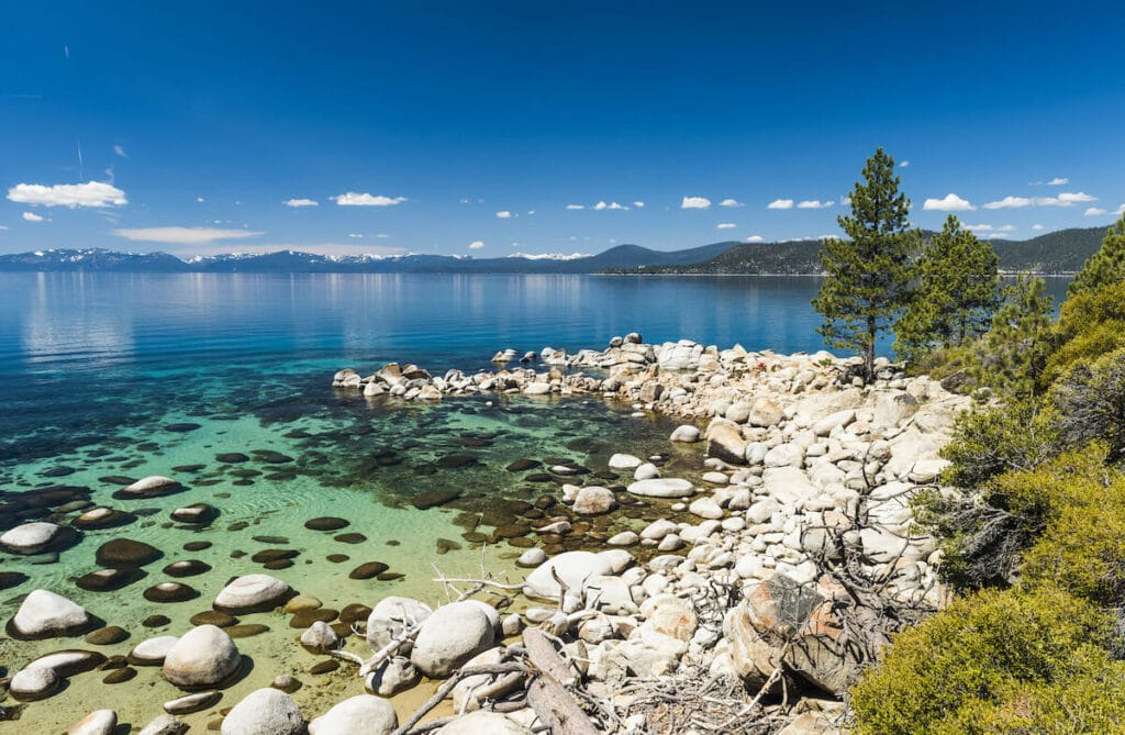 Hidden Beach // Here are 12 of the best summer Lake Tahoe activities for an adventure-packed vacation from hiking to biking to water sports.
