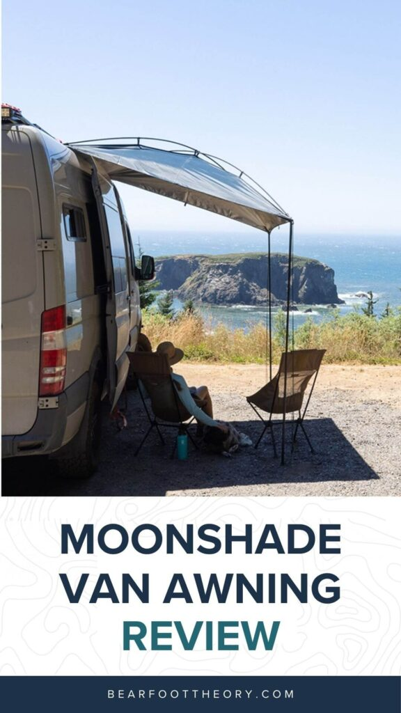 MoonShade is a portable, versatile, budget-friendly camper van awning that packs down small and also works on trucks and SUVs.