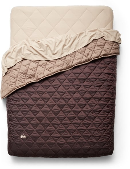 REI Kingdom sleep system - a comfy queen size mattress for car camping