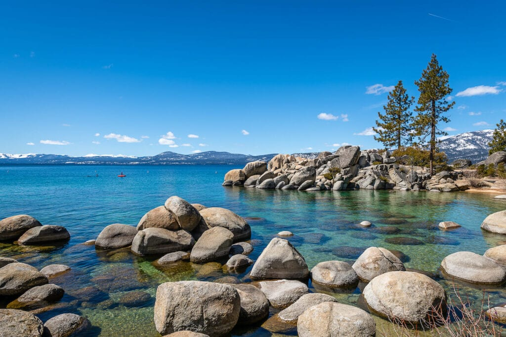 Sand Harbor // Here are 12 of the best summer Lake Tahoe activities for an adventure-packed vacation from hiking to biking to water sports.