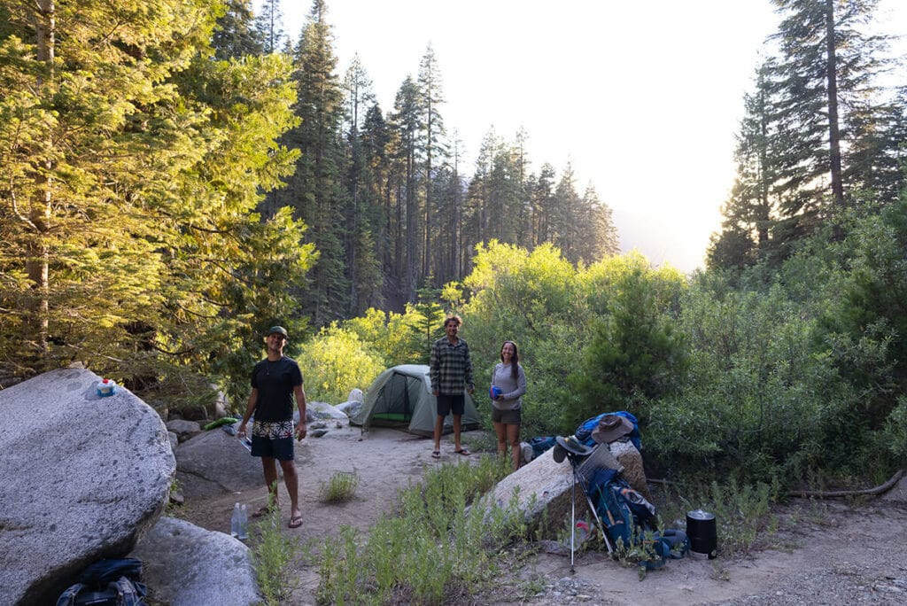 Camp 1 at Cliff Creek on the Mineral King Loop in Sequoia National Park