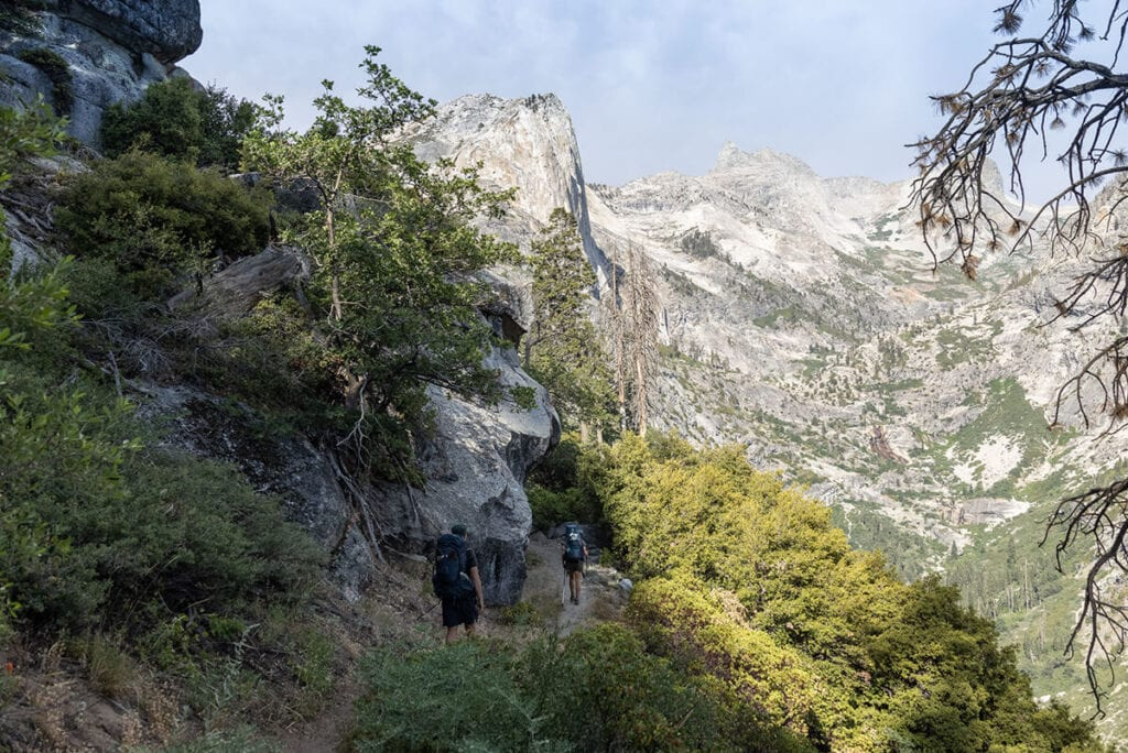 Leaving Bear Paw Meadow on the Mineral King Loop in Sequoia National Park