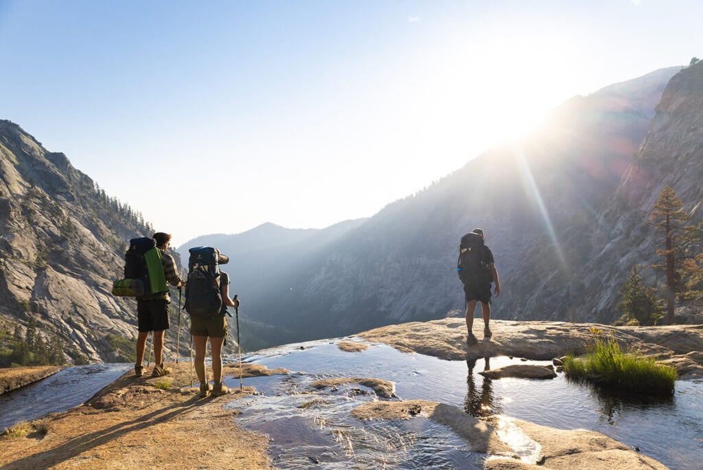 Hiking the Mineral King Loop in Sequoia National Park on the way to Lake Hamilton and Hamilton Creek