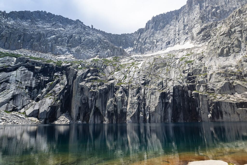Precipice Lake made famous by Ansel Adams on the Mineral King Loop in Sequoia National Park
