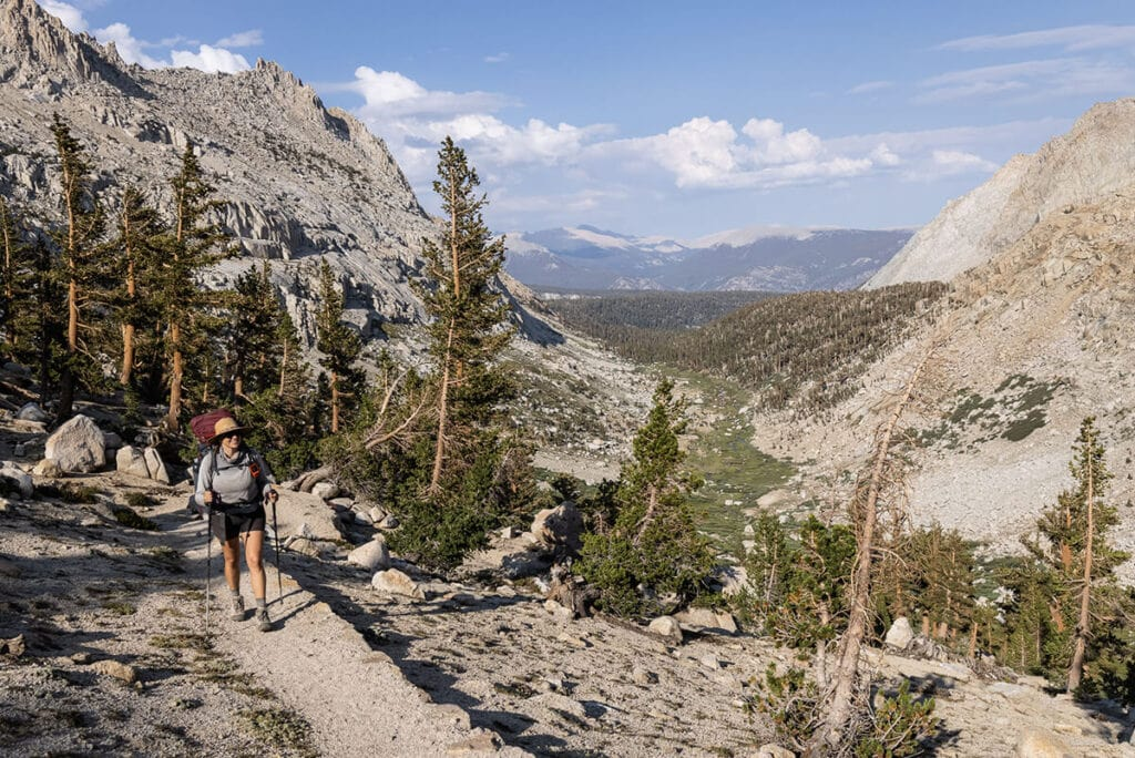 Hiking up to Columbine Lake from Lost Valley on the Mineral King Loop in Sequoia National Park