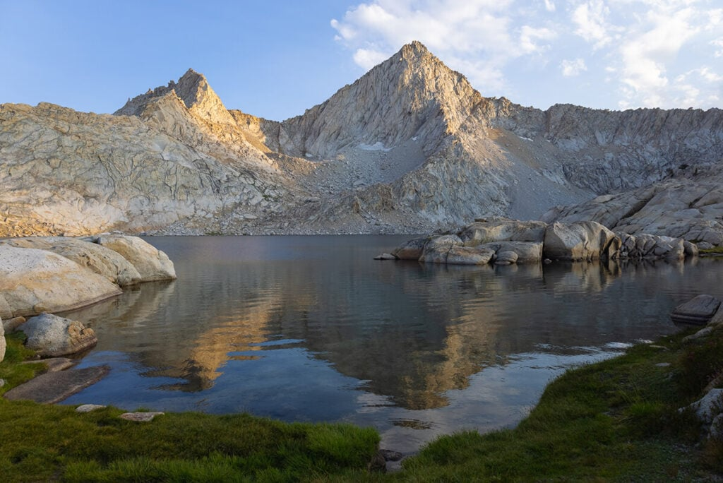 Columbine Lake and Sawtooth Peak on the Mineral King Loop in Sequoia National Park