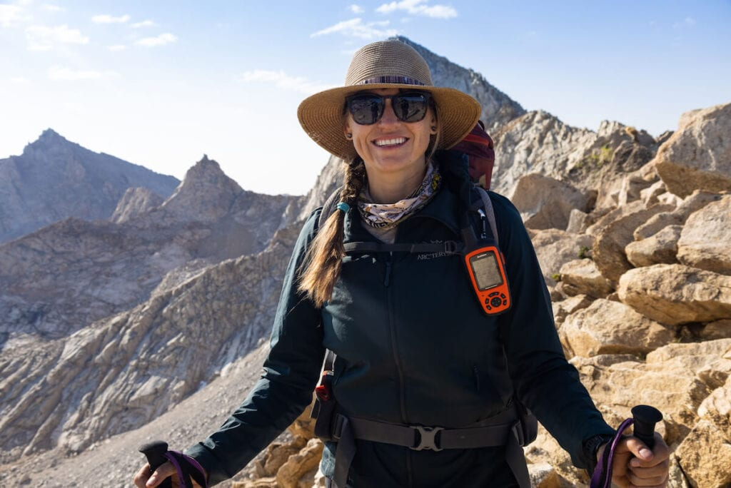 Kristen backpacking in Sequoia National Park // Learn how to pack a backpacking pack for maximum comfort and organization with these tips for fitting your gear and balancing the load.